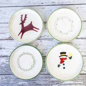Russ Berrie and Co. Plates Christmas Set of 4